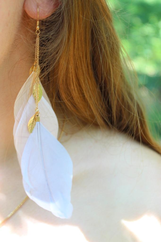 Boucles d'oreilles à plumes Camaïeu